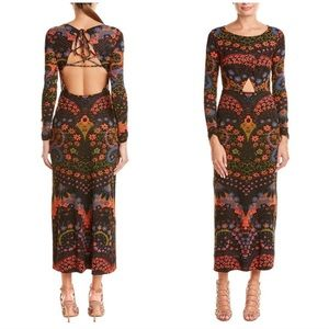 """Free People """"Far Out"""" cut out maxi dress"""